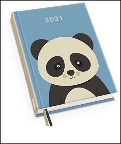 Pandabär Taschenkalender 2021 ‒ Tier-Illustration von Dawid Ryski ‒ Terminplaner mit Wochenkalendarium ‒ Format 11,3 x 16,3 cm