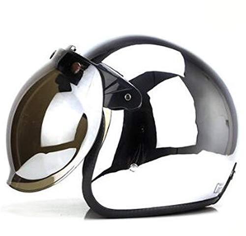 tgbvr Vier seizoenen Mannelijke En Vrouwelijke Harley Motorfiets Retro Helm Spiegel Anti-Foto-elektrische Zilver Half Helm Persoonlijkheid Koele Locomotief Harde Hoed