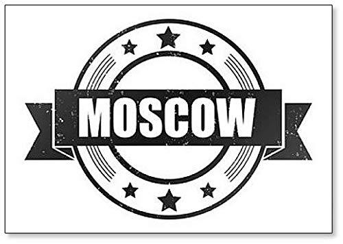 Grunge Stempel met Word Moskou Illustratie Koelkast Magneet