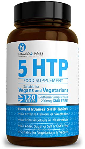 5-HTP 120 High Strength Tablets 200mg - 400mg Daily Serving Vegan