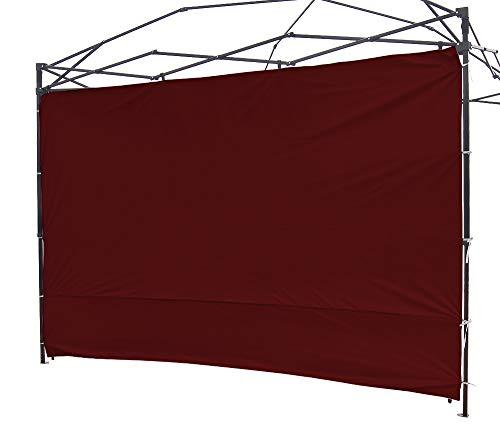 Ninat Seitenteile, 3 x 3 m, Seitenwände für Gartenpavillon, Pavillon, Empfangszelt, Gazebo Pavillon, Camping, schützt vor Regen, Wind, Sonne – 1 Seitenteile