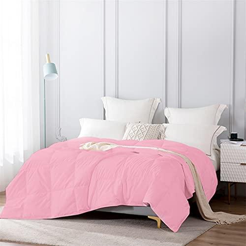 Aiglen Edredón ligero/Inserción de edredón Relleno de plumón de ganso blanco 100% Edredón acolchado Manta de enfriamiento Relleno de 700 (Color : Pink, Size : 135x200 cm)