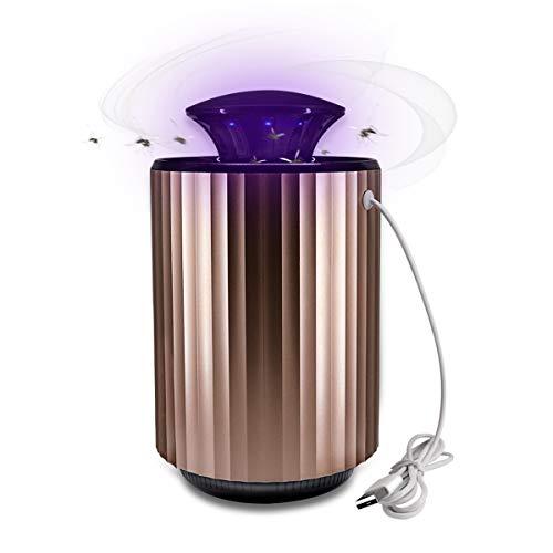 Lámpara para matar mosquitos, Vaxiuja Lámpara repelente para mosquitos Bebé Lámpara para mosquitos Aleje el mouse USB Trampa para moscas Silencioso Bajo consumo para el patio al aire libre en el hogar