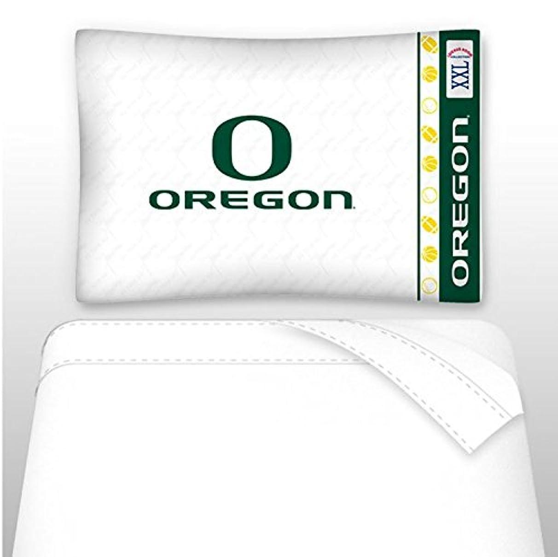 Sports Coverage NCAA Oregon Ducks Not Applicabe, White, Twin