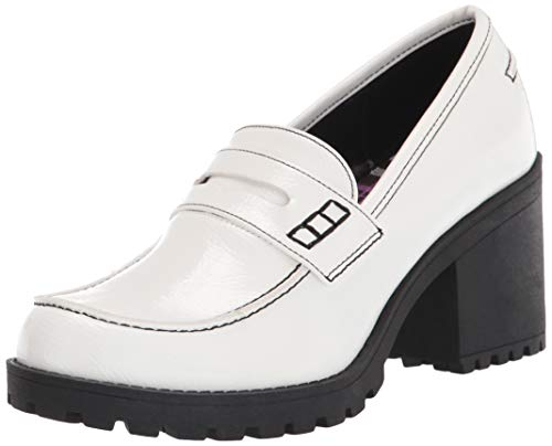 Dirty Laundry womens Heeled Loafer, White, 5 US