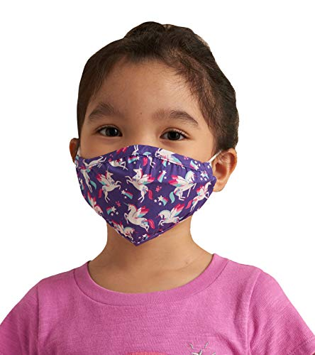 Little Blue House By Hatley Unisex-Kinder Double Layer Face Mask with Ear Elastic Mode-Schal, Majestic Unicorns, Einheitsgröße