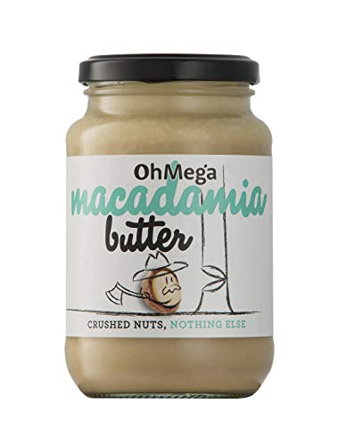 OhMega Macadamia Butter 375 gram jar - 100% Geröstete Macadamia-Nüsse
