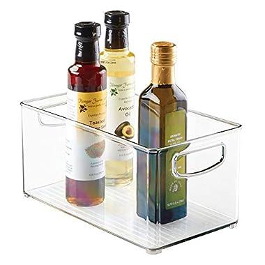 InterDesign Home Kitchen Organizer Bin for Pantry, Refrigerator, Freezer & Storage Cabinet, 10  x 5  x 6 , Clear