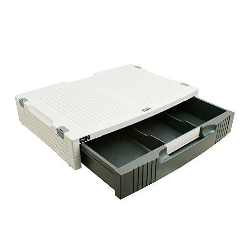 System-S Monitor Drucker Ständer Halter Printer Station 380 mm x 275 mm mit praktischer Schublade ca. 5 cm x 22,6 cm x 33 cm