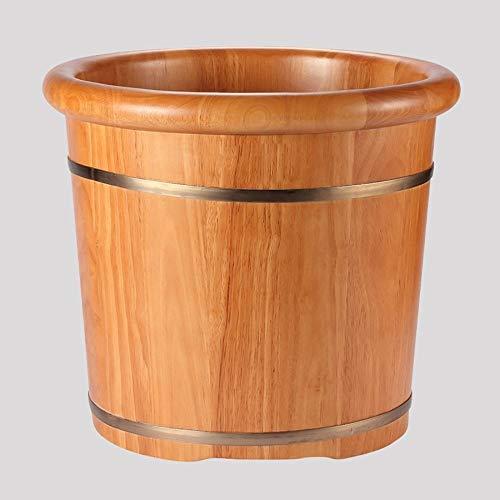 Sgfccyl Résistance élevée de résistance à la Corrosion de chêne à la Maison de baquetier en Bois Seau Lisse et délicat de Bathbath, Brown-38 * 35cm (Color : Brown, Size : 38 * 35cm)