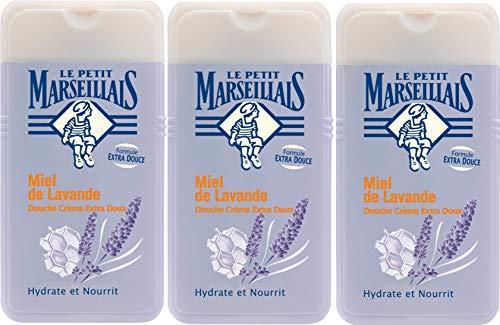 3 x Le Petit Marseillais Douche Crème Extra Doux Miel de Lavande 3 x 250 ml