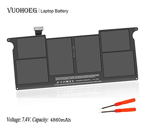 ANTIEE A1406 A1495 Laptop Battery for MacBook Air 11' A1370 (Mid 2011)MC968LL/A A1465(Mid 2012 Mid 2013 Early 2014 Early 2015)MD711LL/A MD712LL/A 11.6' MD223LL/A 2ICP4/46/66-1 7.4V 35Wh