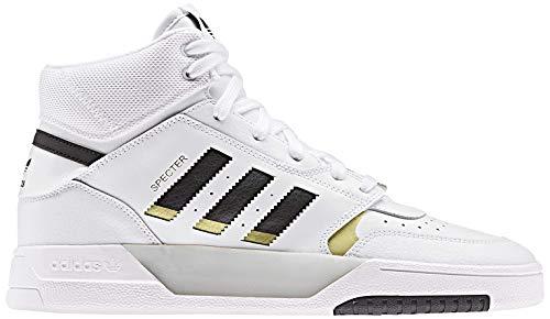 adidas Drop Step, Scarpe da Ginnastica Basse Uomo, Multicolore (Ftwr White/Core Black/Gold Met. Ee5926), 43 1/3 EU