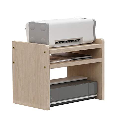 Soportes para impresoras Máquina de fax multifunción de la impresora de escritorio, para estante para escáner en sala de estar y oficina (color crema) Debajo del soporte de la impresora de escritorio