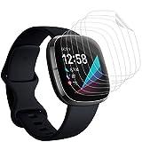 KIMILAR Pantalla Compatible con Fitbit Sense/Versa 3 Protectores de Pantalla (No para Versa/Versa 2), [6 Pack] 99.99% HD Screen Protector Film para Versa 3/Sense Smartwatch