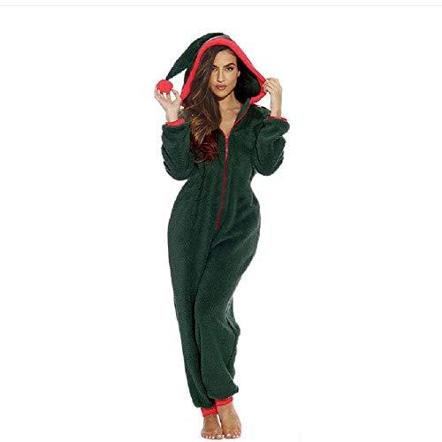 Bai You Mei Damen Jumpsuits Schlafanzug Siamesische Pyjamas Oberall Weihnachtsbaum spielt Kostüm niedlichen Hausanzug