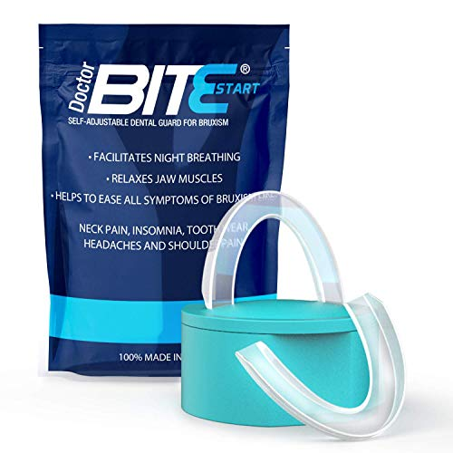 Doctor Bite Start - 2 x Férula de Descarga Automoldeable para Bruxismo, ronquidos y rechinar de dientes