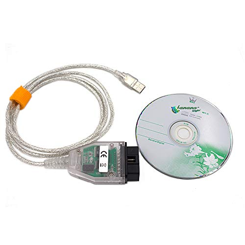 WOVELOT Obd2 USB Interfaz para BMW-Inpa/Ediabas-K + Dcan Permite Cable de Diagnóstico Completo para BMW de 1998 A 2008