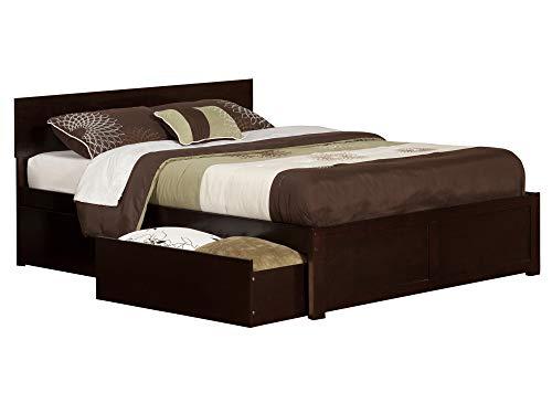 Atlantic Furniture Orlando Platform Bed with 2 Urban Bed Drawers, Queen, Espresso