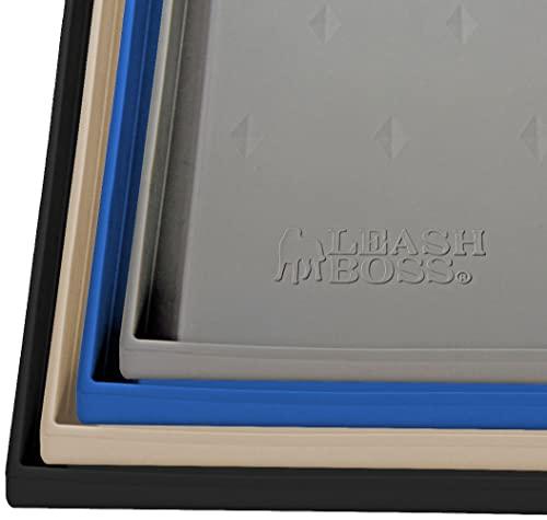 Leashboss Splash Mat XL Dog Food Mat with Tall Lip,...