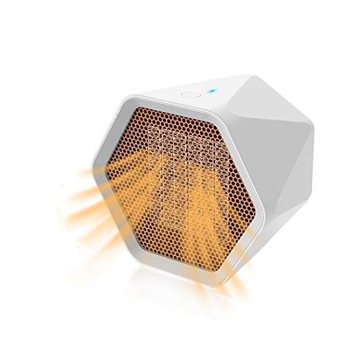 Calefactor eléctrico portátil PTC, de cerámica, con protección contra sobrecalentamiento, sin fuego, adecuado para dormitorio, oficina, baño