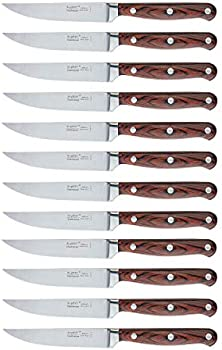 BergHOFF Pakka Wood 12-Piece Stainless Steel Steak Knife Set