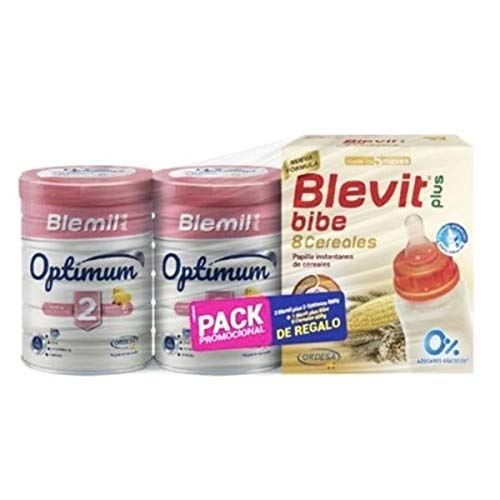 Ordesa DUPLO Blemil Plus Optimum 2 Leche para Lactantes +6 meses, 2x800g+REGALO Optimum 3, 400g
