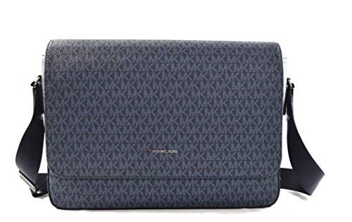 Michael Kors Harrison Men's Messenger Briefcase Computer Laptop PC Shoulder Crossbody Bag (Admiral Pale Blue)
