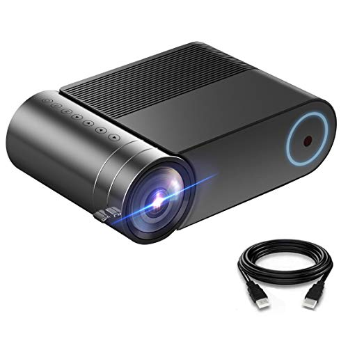 """Mini Projector, Gift Portable Video Projector Full HD 1080P 200"""" Display, 3800 Lux Outdoor Movie Projector, 50,000 Hrs Led Projector, Ports:HDMI, USB, TV Stick, TF, USB, VGA, and AV;Phone Projector"""