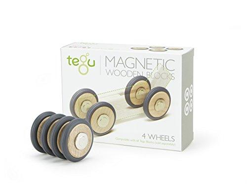 4 Pack Tegu Magnetic Wooden Wheels
