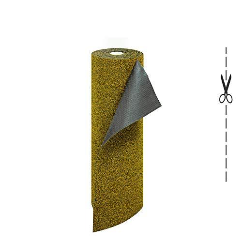 Olivo.Shop – Garden Beige, Felpudo a medida de coco sintético de rizo vinílico efecto melange (50 x 100 cm)