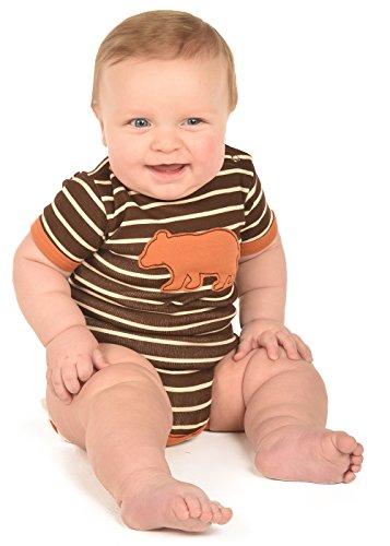 LazyOne Garçon Bear Stripe Body Bebe Vest 6 Months