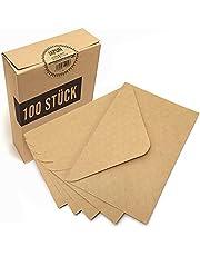 Japun - koperty (100 sztuk) wykonane z papieru kraft vintage / bez okienka (C6 - 163 x 112 mm)