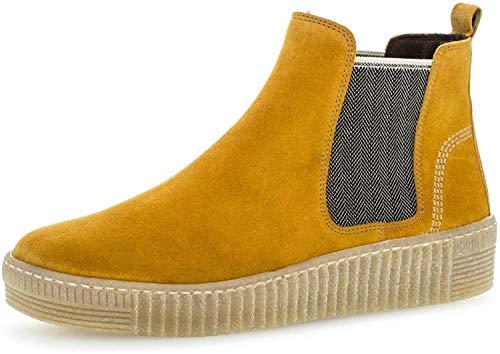 Gabor Damen Chelsea Boots 33.731, Frauen Stiefelette,Stiefel,Halbstiefel,Bootie,Schlupfstiefel,flach,Herbst/beige(Natur,39 EU / 6 UK