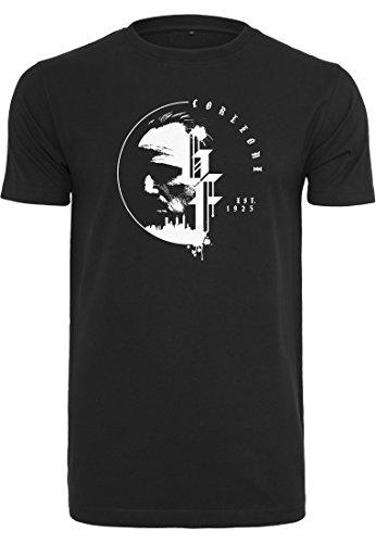 MERCHCODE Herren Godfather Circle Tee T-Shirt, Black, XL