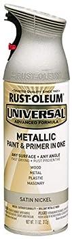 Rust-Oleum 249130 Universal All Surface Spray Paint 11 oz Metallic Satin Nickel