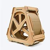 Lucky Star Gato Muebles Rotación Cinta corrugada Cinta de Correr Ferris Wheel Cat Scratch Tablero Cat Stiming Frame Rueda (tamaño : Grande)