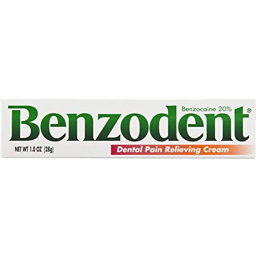 Benzodent Dental Pain Relieving Cream Topical Anesthetic, 1 Ounce Tube