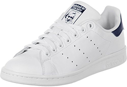 adidas Originals Stan Smith, Herren Hallenschuhe, Weiß (Running White/New Navy), 39 1/3 EU