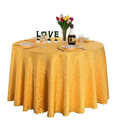 Premium imprimé table circulaire couverture parfait pour dîner grand buffet table, Très jolie décoration pour, Repas de fête, Mariage & plus-jaune diamètre180cm(71inch)