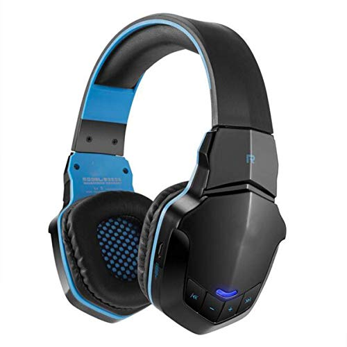 YAJIWU Headphones, Wireless Bluetooth Stereo 3.5Mm Plug USB Plug Professional Lightweight Gaming Headphone Music Call Games Headset Support NFC with Mic Remarkable Sound,Blue (Color : Blue)
