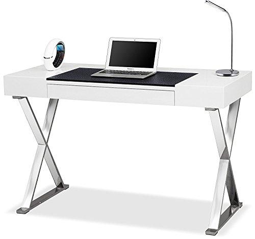 Centurion Support ADONIS - Escritorio ergonómico para ordenador de lujo, color blanco brillante y...