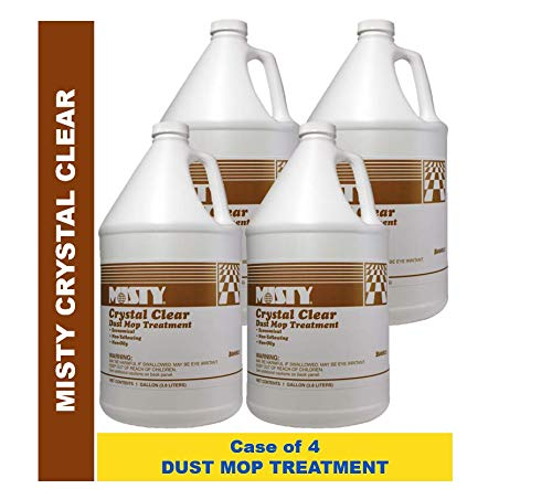 Misty Crystal Clear Dust Mop Treatment 1 Gal 1003411 (Case of 4) Acts as a Dust Magnet, Pro Formula