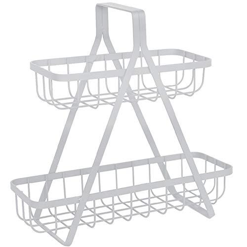 LBDD Organizador de cocina, estante en capas para mostrador, estante de almacenamiento de escritorio, gabinete de almacenamiento interno multifunción, color blanco