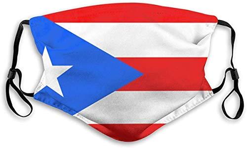 Die Flagge des Commonwealth von Puerto Rico Einstellbare Ohrmuschel Gesicht Anti Staub Gesicht Mundschutz 1 Stck