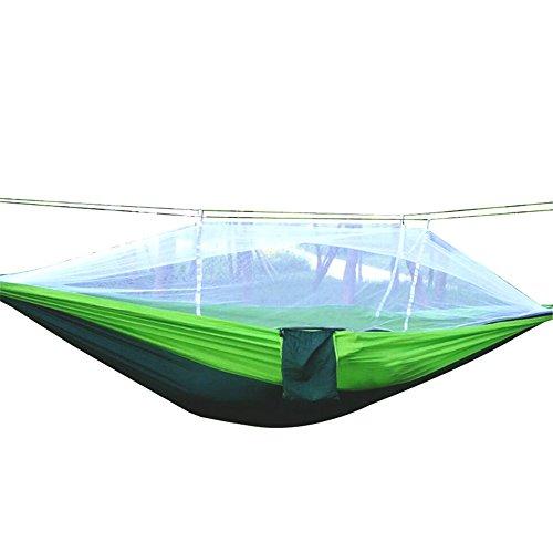 Outdoor Garden Hangmat Enkele of dubbele camping hangmat met Klamboe Bed Bug net kan worden gebruikt for Camping Backpack Survival Trip eenvoudig te monteren voor Patio Yard Camping