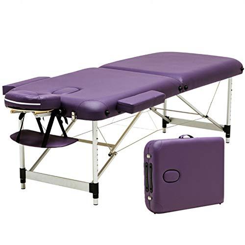 massage Professionele Tafel Vouwen 2 Sectie Aluminium Lichtgewicht Draagbare Verstelbare Hoogte Schoonheid SPA Behandeling Bank Gratis Hoofdsteun Armsteun Draagtas Ouoy