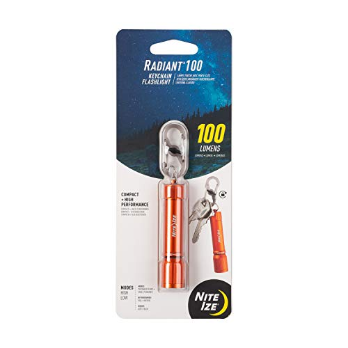 Nite Ize R100F-19-R7 Radiant 100 chaveiro lanterna EDC, laranja