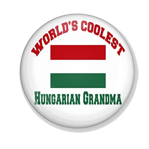 Gifts & Gadgets Co. Worlds Coolest Hungarian Grandma Magnet Flaschenöffner, 58 mm Durchmesser