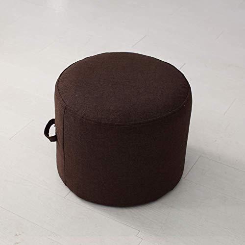 GWFVA Sitzsack Sitzsack Fußschemel, abnehmbare Fußstütze Ottoman Pouffe Sitzpolsterung Kinderhocker Baumwolle und Leinenbezug Stuhl Sitzorange 40x40x20cm